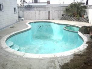 Before a successful pool removal in san jose